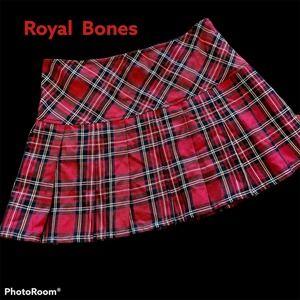 Royal Bones Women's Pleated Mini Skirt Sz M